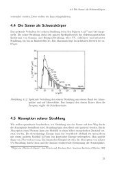 4.4 Die Sonne als Schwarzkörper 4.5 Absorption solarer Strahlung