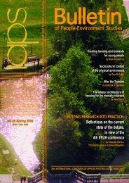 of People-Environment Studies of People-Environment Studies - IAPS