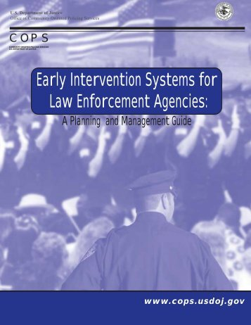 Early Intervention Systems for Law Enforcement Agencies - Cops ...