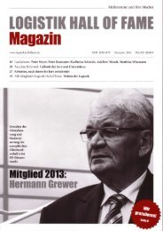Logistik Hall of Fame Magazin 2013