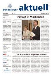 Festakt in Washington - Bundeswehr