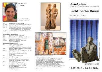 der Flyer zur 209. Ausstellung als PDF - INSELGALERIE Berlin