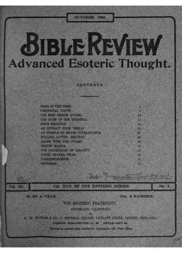 Bible Review V3: October 1904 - Iapsop.com