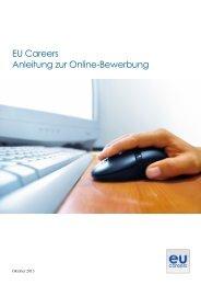 EU Careers Anleitung zur Online-Bewerbung - Europa