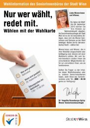 Nur wer wählt, redet mit. - Fonds Soziales Wien
