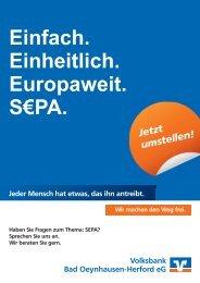 Kurz-Check SEPA für Firmenkunden und Vereine - Volksbank Bad ...