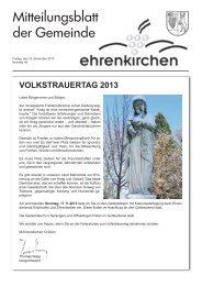 VOLKSTRAUERTAG 2013 - Gemeinde Ehrenkirchen