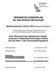 Vorlesungsverzeichnis Wintersemester 2013/14
