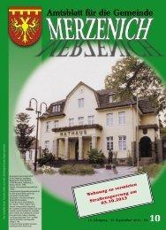 Nr. 10/2013, erschienen am 13.09.2013 - Gemeinde Merzenich