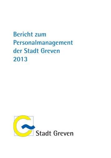 Bericht zum Personalmanagement der Stadt Greven 2013