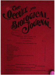 The Occult and biological journal - Iapsop.com