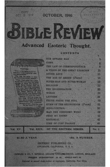 Bible Review V15: October 1916 - March 1918 - Iapsop.com
