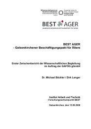 BEST AGER - Gelsenkirchener Beschäftigungspakt für Ältere