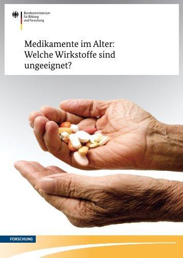 Medikamente im Alter: Welche Wirkstoffe sind ungeeignet?