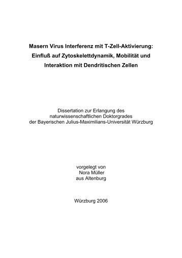 Untersuchung des Einflusses von Maservirus auf ... - OPUS Würzburg