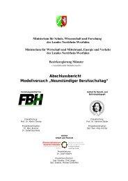 Neunstündiger Berufsschultag - Institut Arbeit und Qualifikation