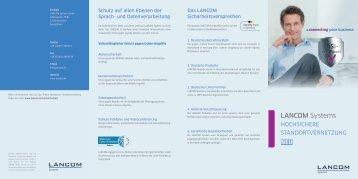 Flyer Hochsichere Standortvernetzung - LANCOM Systems