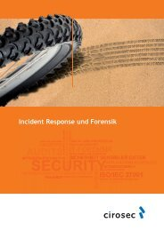 cirosec Broschüre Incident Handling und IT-Forensik