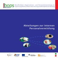 Abteilungen zur internen Personalvermittlung - Institut Arbeit und ...