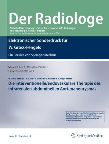 Elektronischer Sonderdruck für Die interventionelle/endovaskuläre ...