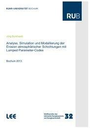 Analyse, Simulation und Modellierung der Erosion atmosphärischer ...