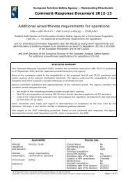 CommentResponse Document 201213 Additional ... - EASA - Europa