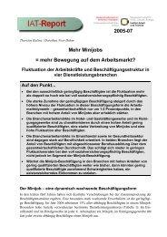 IAT-Report 2005-07 als PDF - Institut Arbeit und Qualifikation
