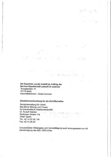 10179 Berlin 1 0407 Berlin Tel.: 42 14 22 45/46 Fax: 42 14 28 26