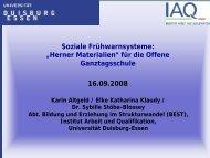 """""""Herner Materialien"""" für die Offene - Institut Arbeit und Qualifikation"""