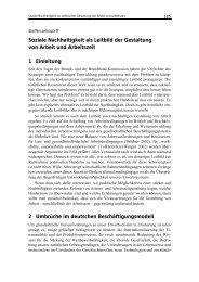 Soziale Nachhaltigkeit als Leitbild der Gestaltung von Arbeit und ...