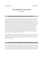 Wirtschaftliche Lage in Deutschland - Institut Arbeit und Qualifikation