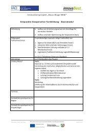 "Praxisprodukt: Basis-Modul ""Kooperative Fortbildung"" - Institut Arbeit ..."