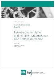 iap Schriftenreihe Band 4 - Institut Arbeit und Qualifikation