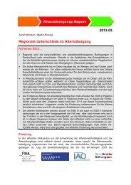 Regionale Unterschiede im Altersübergang - Institut Arbeit und ...