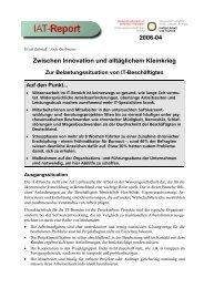 Zwischen Innovation und alltäglichem Kleinkrieg - beim Institut ...
