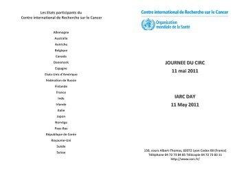 Journée du CIRC 2011 - iarc