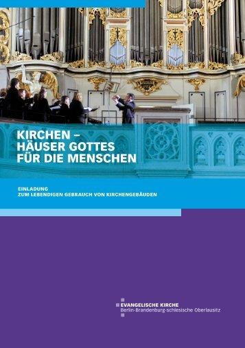 KIRCHEN – HÄUSER GOTTES FÜR DIE MENSCHEN