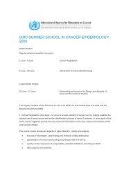 Schedule - IARC