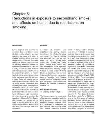 Chapter 6 Reductions in exposure to secondhand smoke and ... - iarc