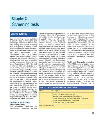 Screening tests - IARC