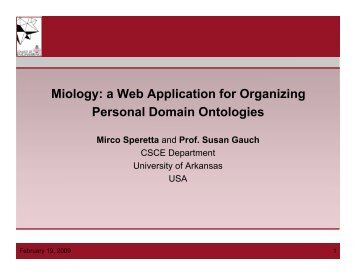 Miology: a Web Application for Organizing Personal Domain ... - iaria