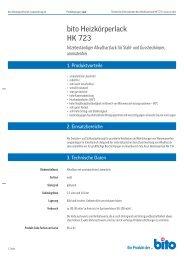 Technisches Datenblatt HK 723 - Bito AG