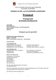 Juryprotokoll (pdf, 557KB) - Architekturwettbewerb.at