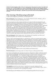 Die Geistige Dreiklassengesellschaft - anozin-ofa.de
