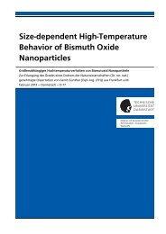 Size-dependent High-Temperature Behavior of Bismuth ... - tuprints