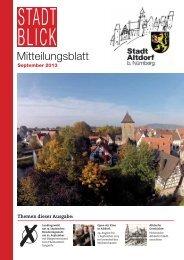 September 2013 - Stadt Altdorf b. Nürnberg