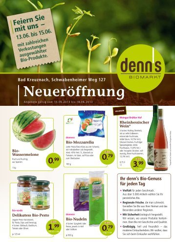 Neueröffnung - denn's Biomarkt