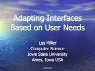Adapting Interfaces Based on User Needs - iaria