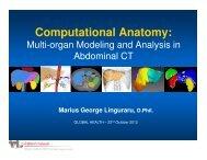 Computational Anatomy: Multi-organ Modeling and Analysis ... - iaria