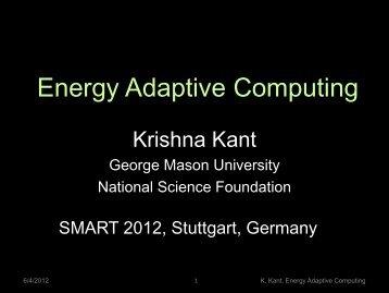 Energy Adaptive Computing - iaria